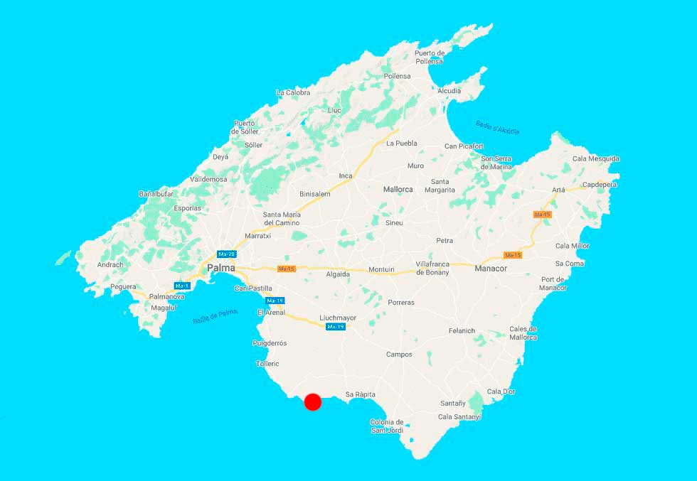 Cala Pi mapa Mallorca-point