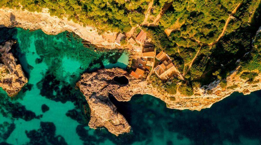 vista aérea de Cala s'Almunia