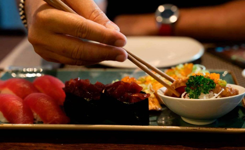 sushi en el restaurante Wasabi Palma de Santa Catalina