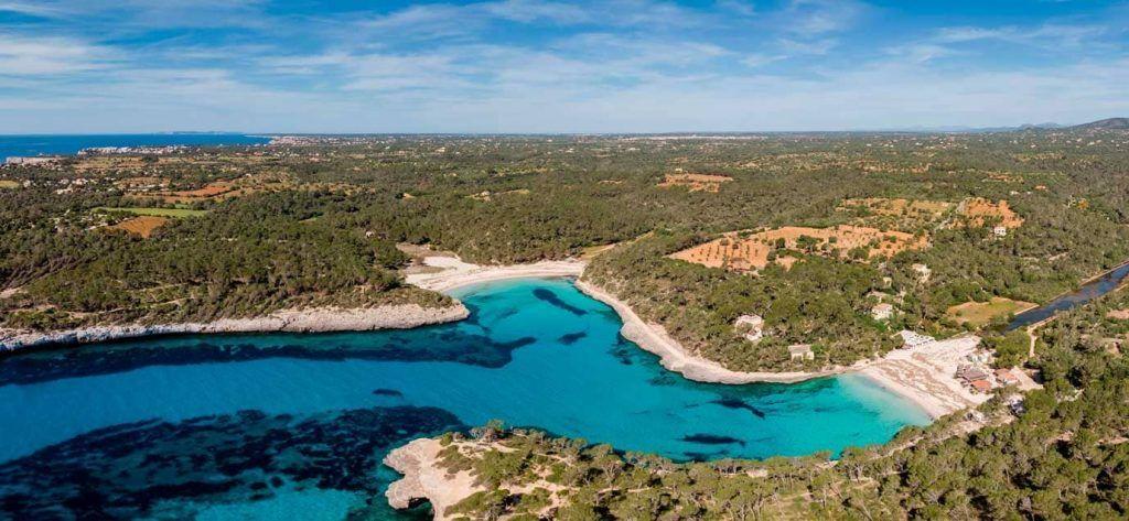 Vista aérea del Parque Natural de Mondragó