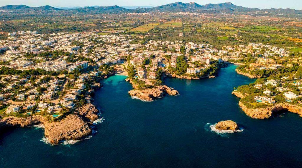 vista aérea de Cala Ferrera, Mallorca