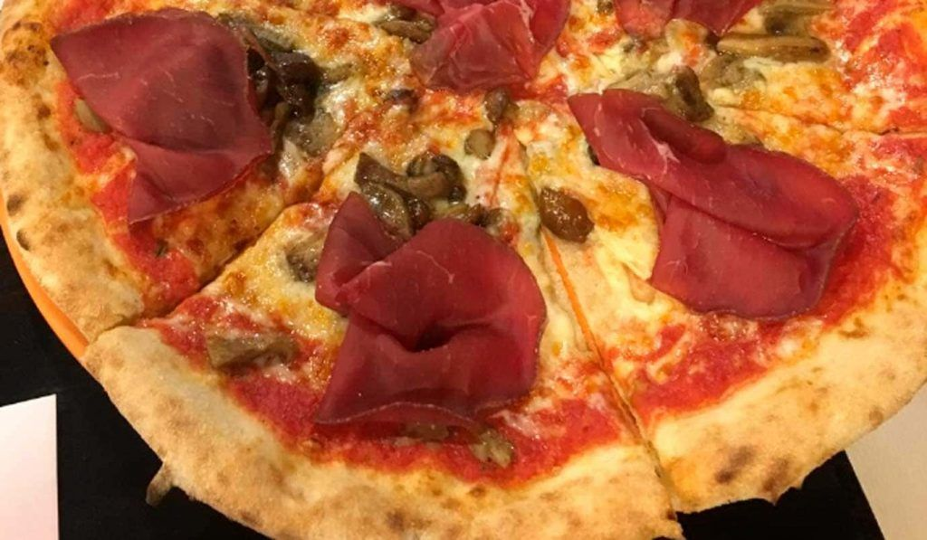 una pizza de la pizzería Es Fortí, en Palma