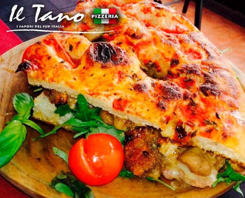 una calzone de la pizzeria Il Tano