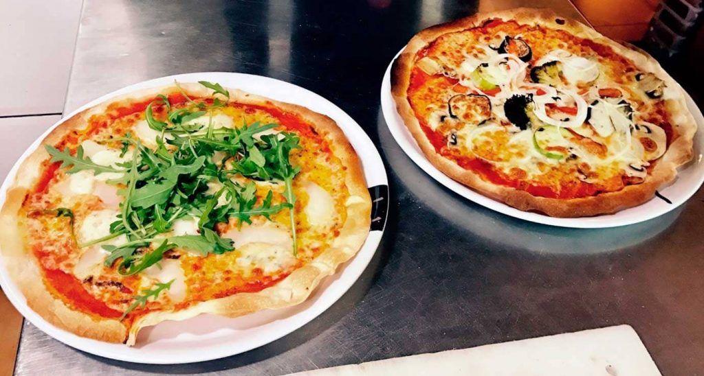 una pizza de la pizzería Il Porticato, en Palma