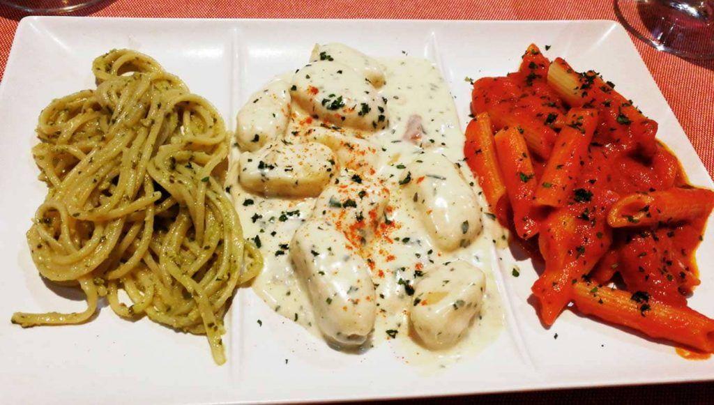 Un plato de pasta del restaurante Rossini de Palma