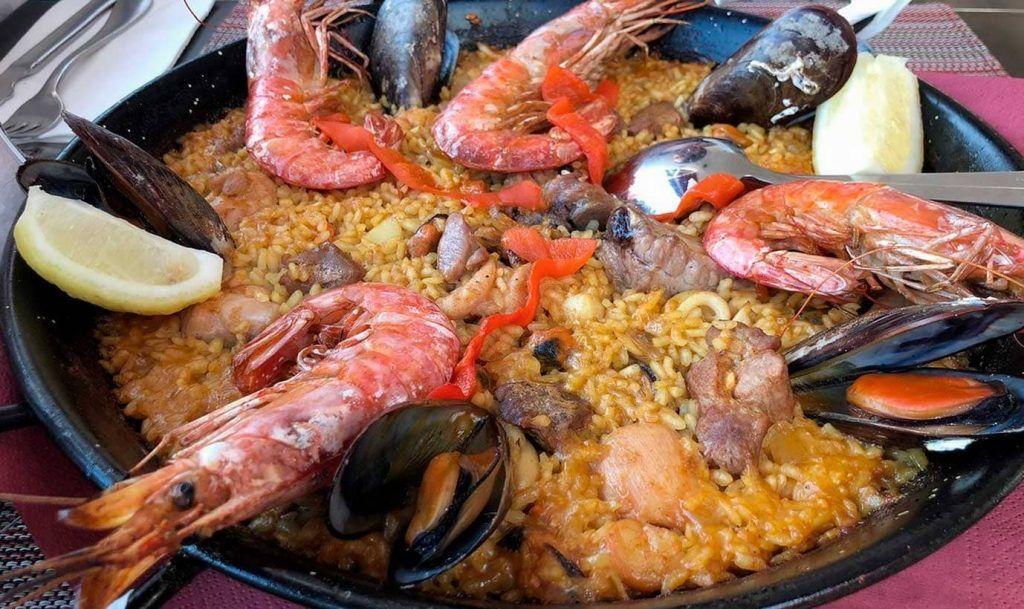 una paella del Restaurante del Sol de el Arenal