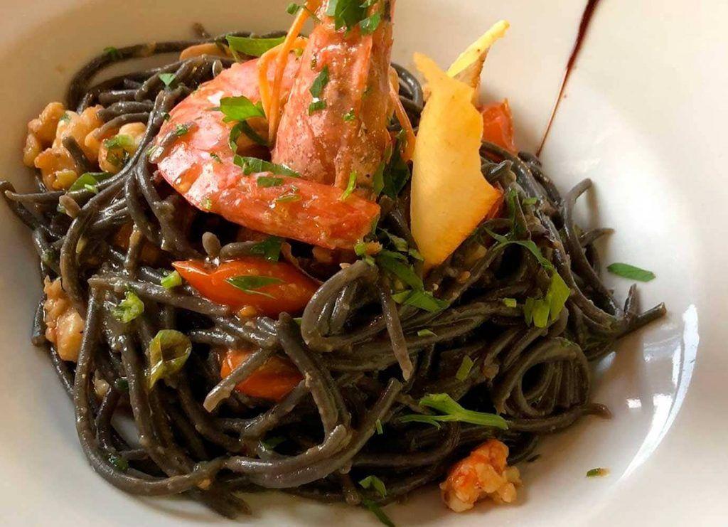 un plato de pasta en el Ristorante Café Murada de Palma