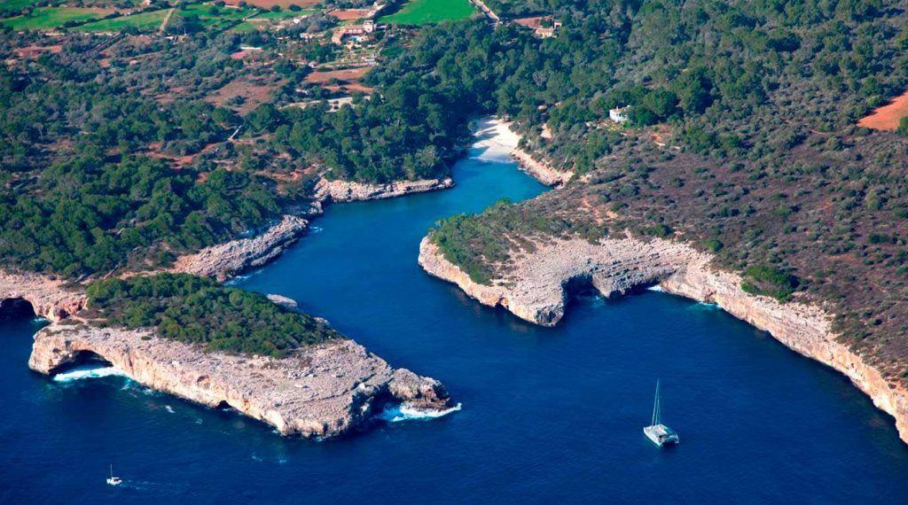 vista aérea de Cala Sa Nau - Mallorca
