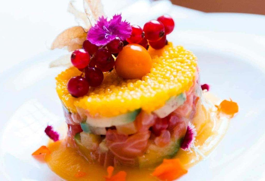 un plato sofisticado del Sandro Restaurante de Palma