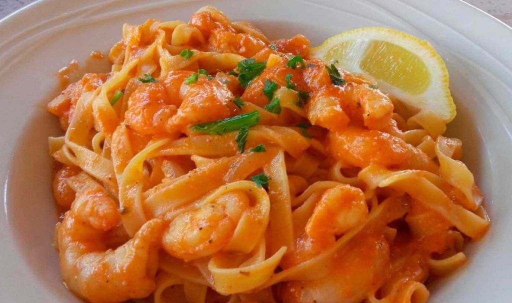 una plato de pasta de la spaghetteria-Casa-Leone en Playa de Palma