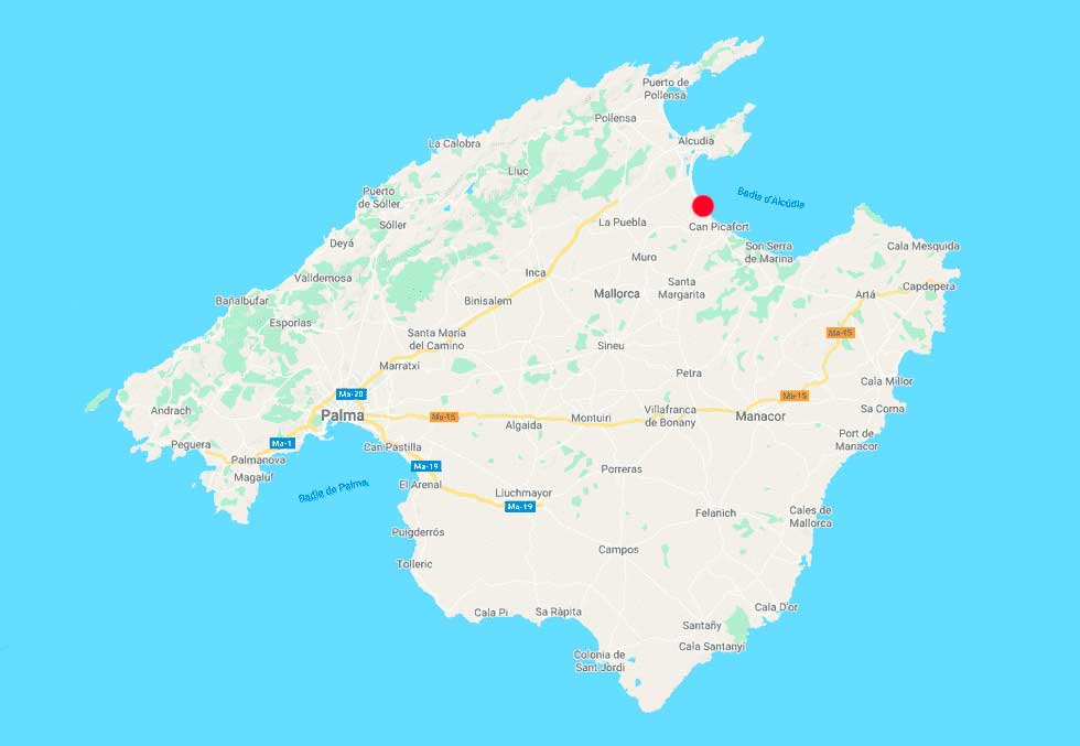 playa de muro mapa point