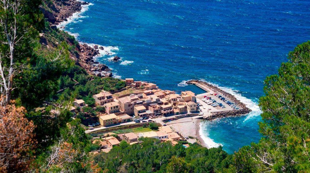 Vista aérea del Puerto de Valldemossa