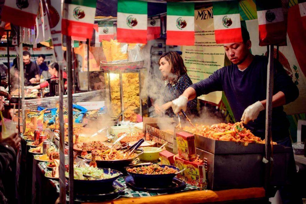puesto de comida mexicana