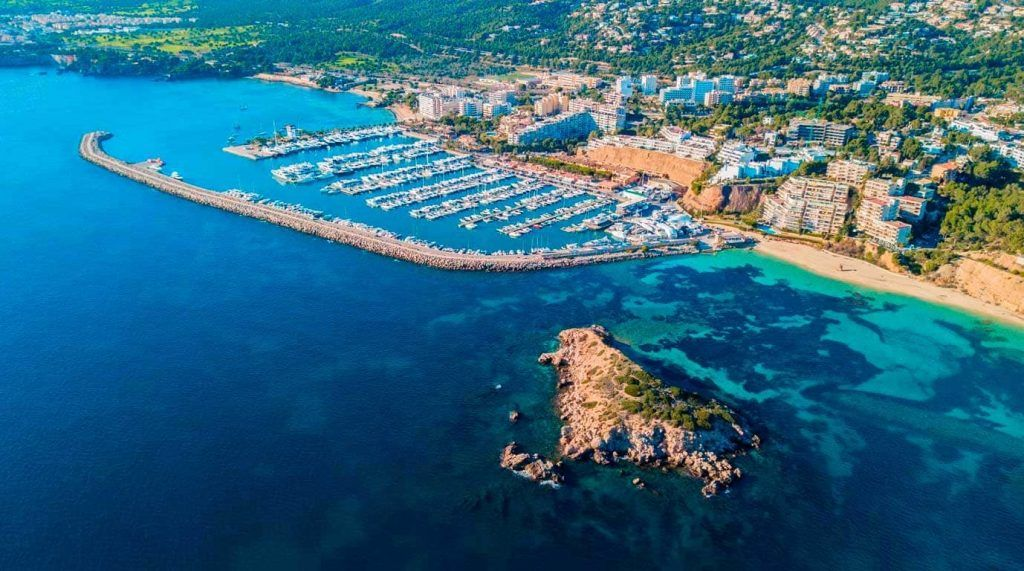 Vista aérea de Puerto Portals