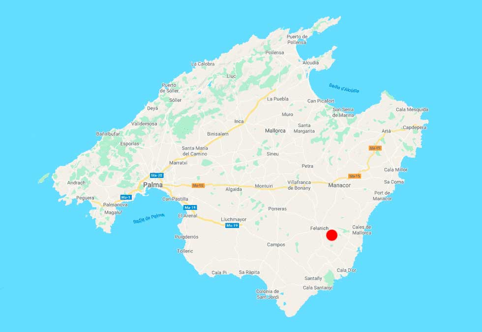 Santuari de Sant Salvador mapa-point