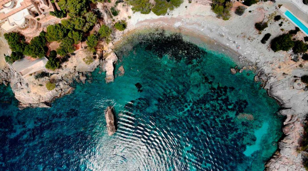 vista aérea de Cala en Cranc