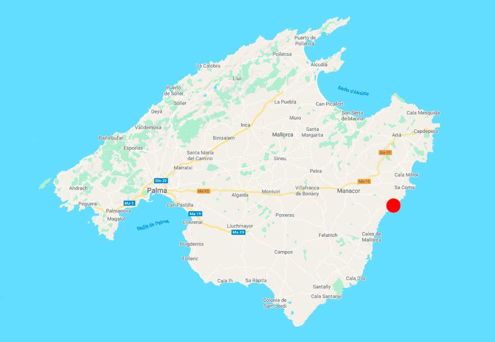 porto-cristo-mapa-mallorca-point