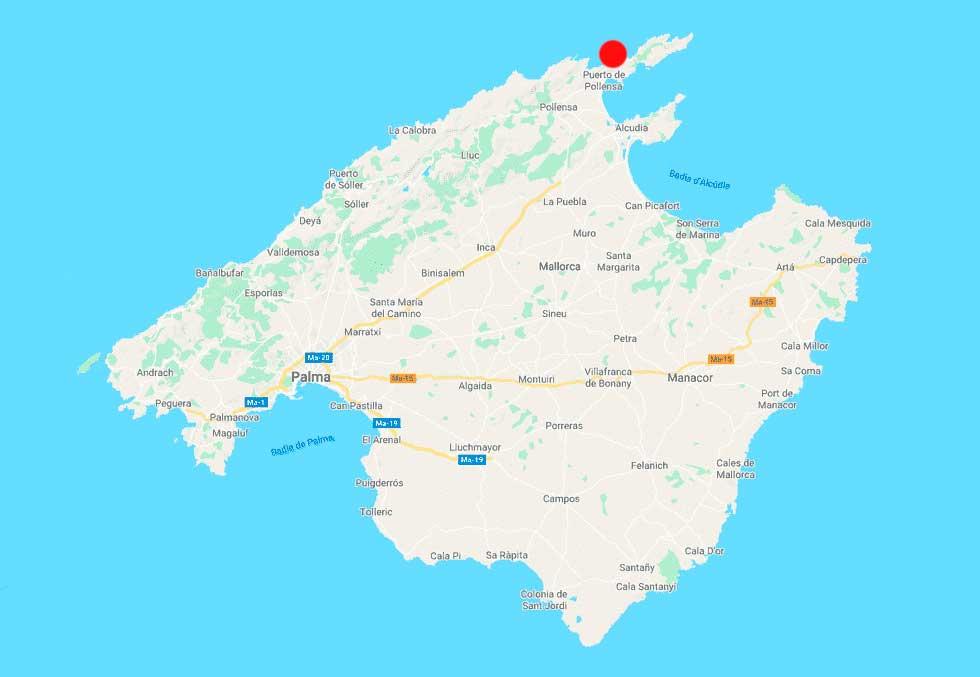 Cala Bóquer point mapa Mallorca