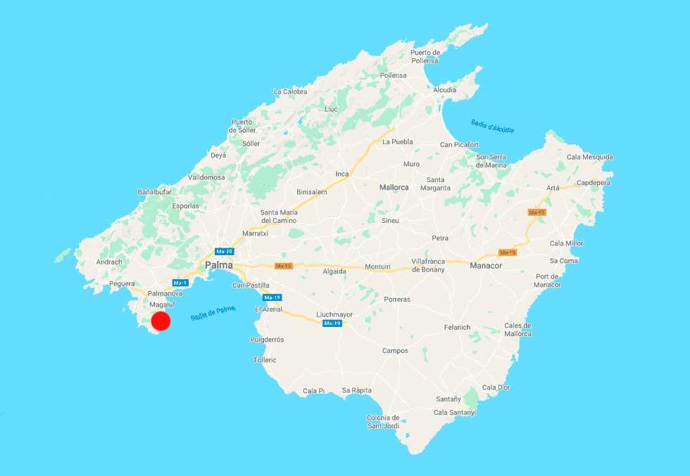 playa del Mago mapa point